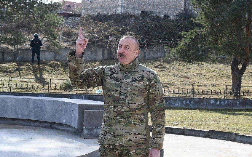 Prezidentin Şuşa səfəri ilə bağlı növbəti paylaşım – Rakus.az